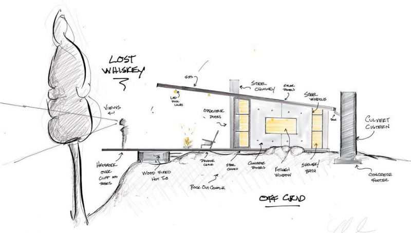 arquitectura_y_empresa_lost whiskey cabina_alzado