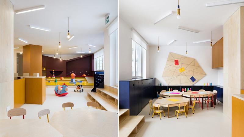 Arquitectura y Empresa, guardería, jardín infantil, escuela, niños, arquitectura y educación, No Architects, Studio Flusser, Republica Checa, Praga