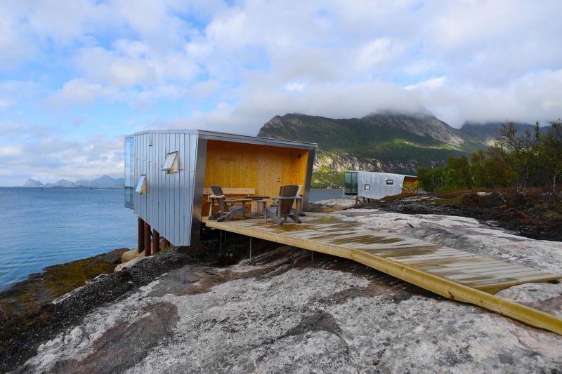 arquitectura_y_empresa_manshausen island resort_cabinas acceso_Snorre Stinessen
