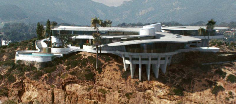 arquitectura casa iron man mansion stark vista exterior frontal