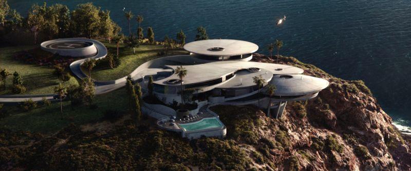 arquitectura casa iron man mansion stark vista aerea