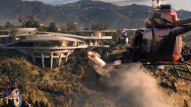 arquitectura razor house fotografia exterior pelicula iron man helicopteros