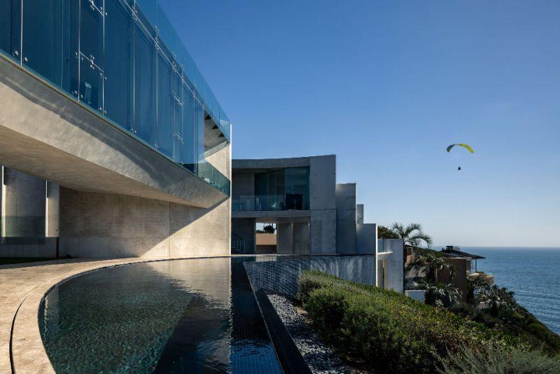 arquitectura razor house fotografia exterior terraza piscina infinita