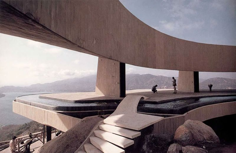 arquitectura casa arango john lautner vista exterior terraza