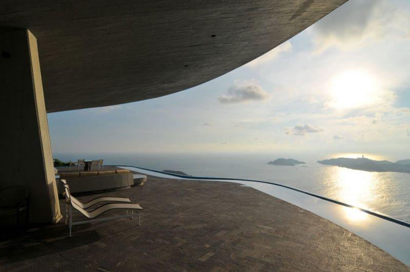 arquitectura casa arango john lautner vista exterior terraza vistas panoramicas