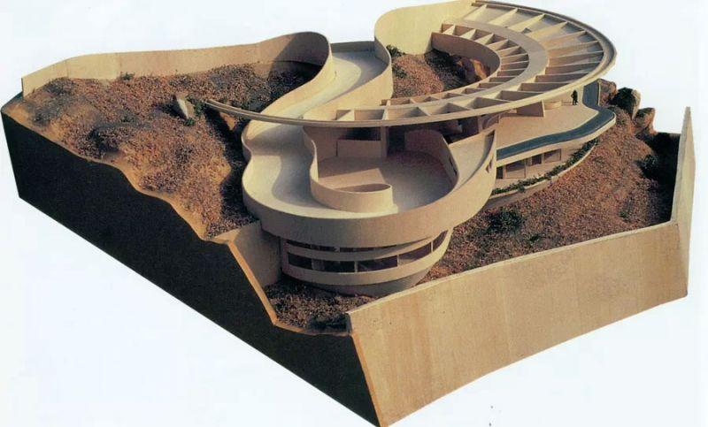 arquitectura casa arango john lautner maqueta