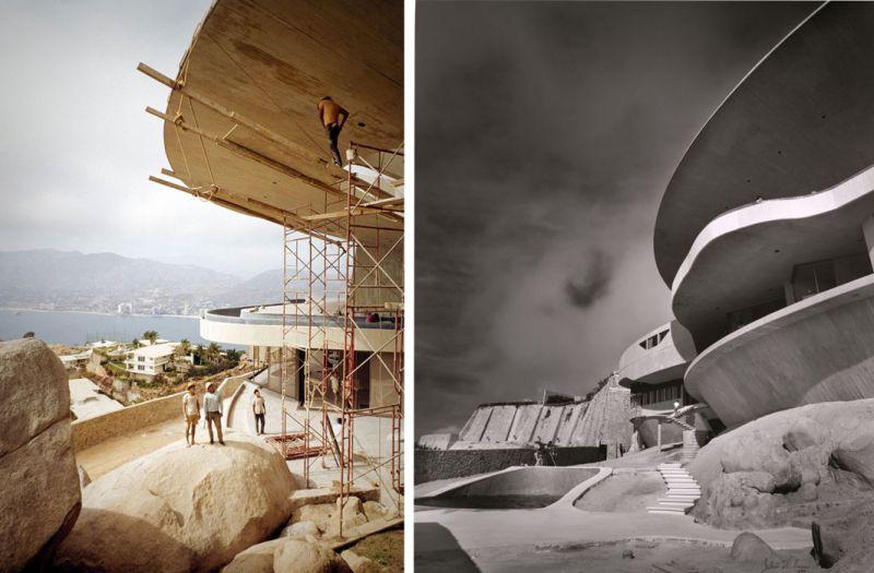 arquitectura casa arango john lautner vista construccion voladizos