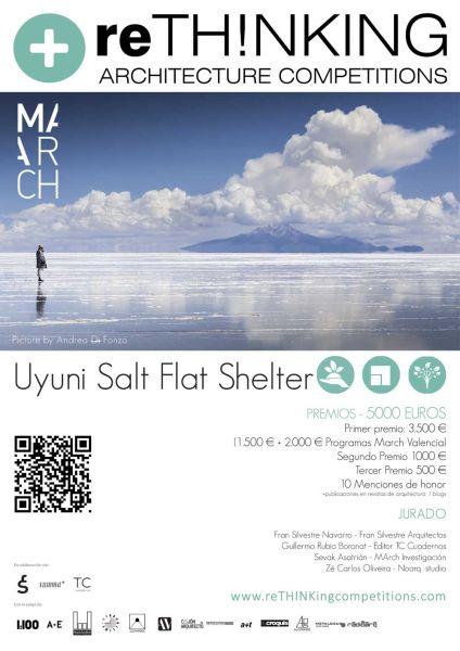 arquitectura march master de arquitectura concurso uyuni salt flat shelter cartel poster concurso