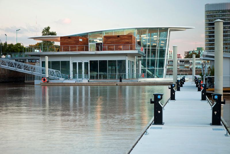 arquitectura salón flotante madero walk