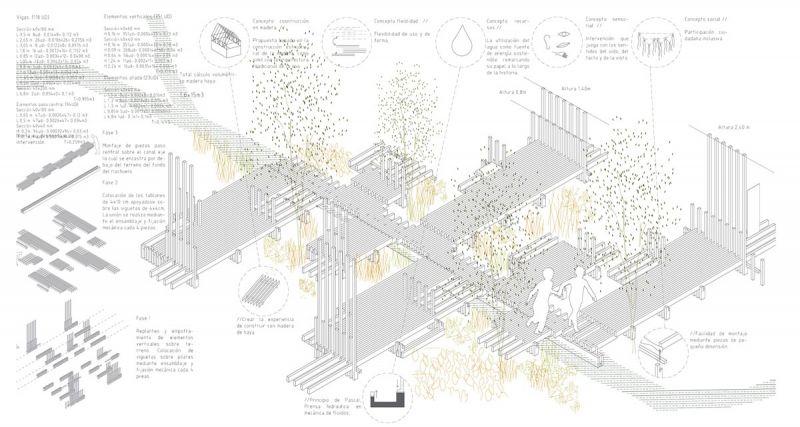 arquitectura festival masmadera 2020 ganadores concurso el fluir de una pisada