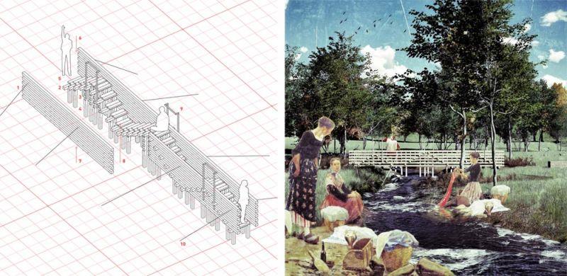 arquitectura festival masmadera 2020 ganadores concurso cruce rio cilora mencion de honor