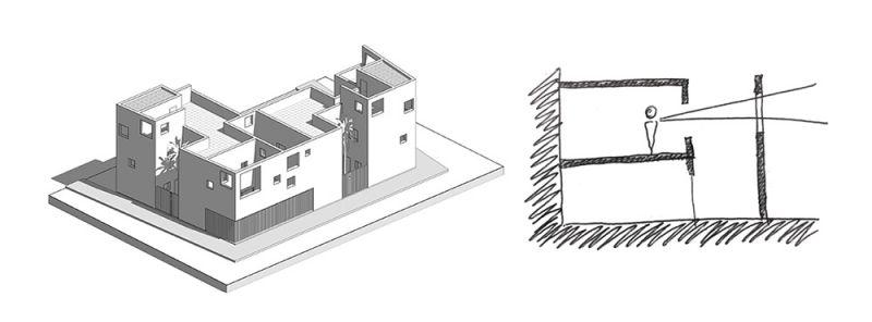 arquitectura casas costacabana axonometria boceto