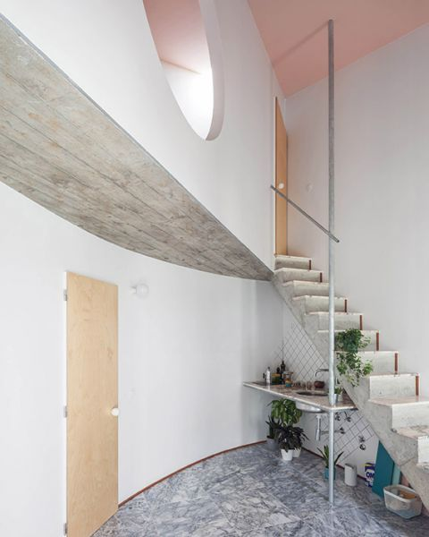 six houses fala atelier vista cozinha escalera