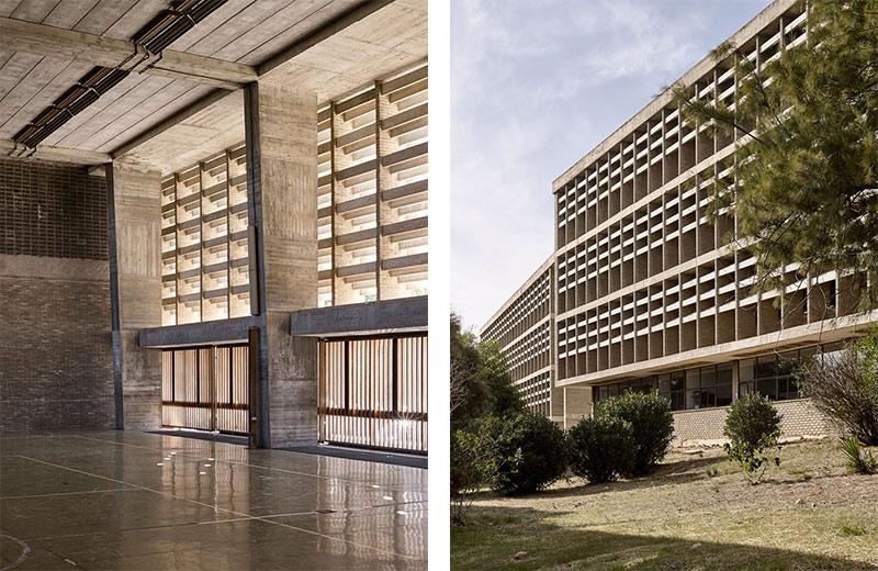 Relación interior-exterior en la Universidad laboral de Cheste