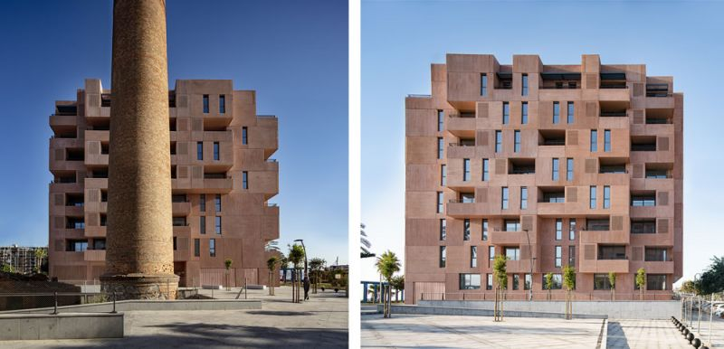 arquitectura muñoz miranda architects 73 viviendas foto exterior alzados
