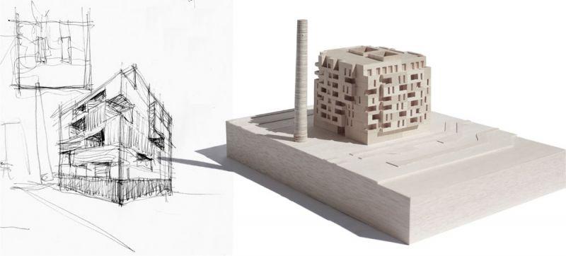 arquitectura muñoz miranda architects 73 viviendas foto maqueta boceto