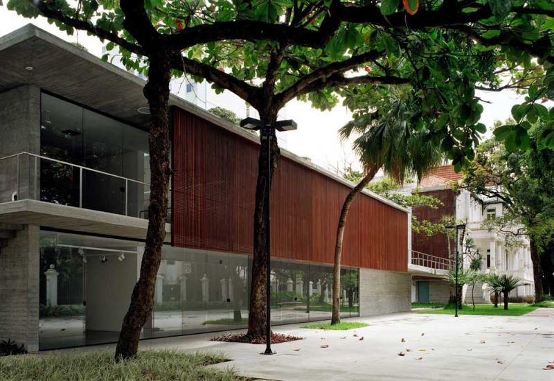 Museo Rodin Bahia_Alzado y pasarela edificio nuevo anexo