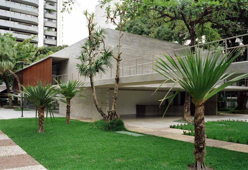 Museo Rodin Bahia_ PLANTA BAJA Y PASARELA DE HORMIGÓN