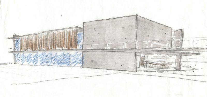 Museo Rodin Bahia_ _Croquis_Estudio _boceto nuevo edificio