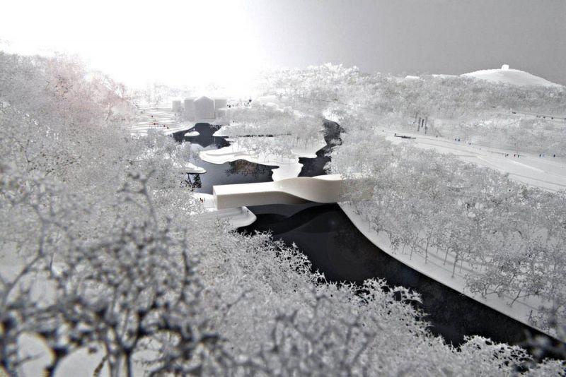 """El museo """"The Twist"""", imagen nevada"""