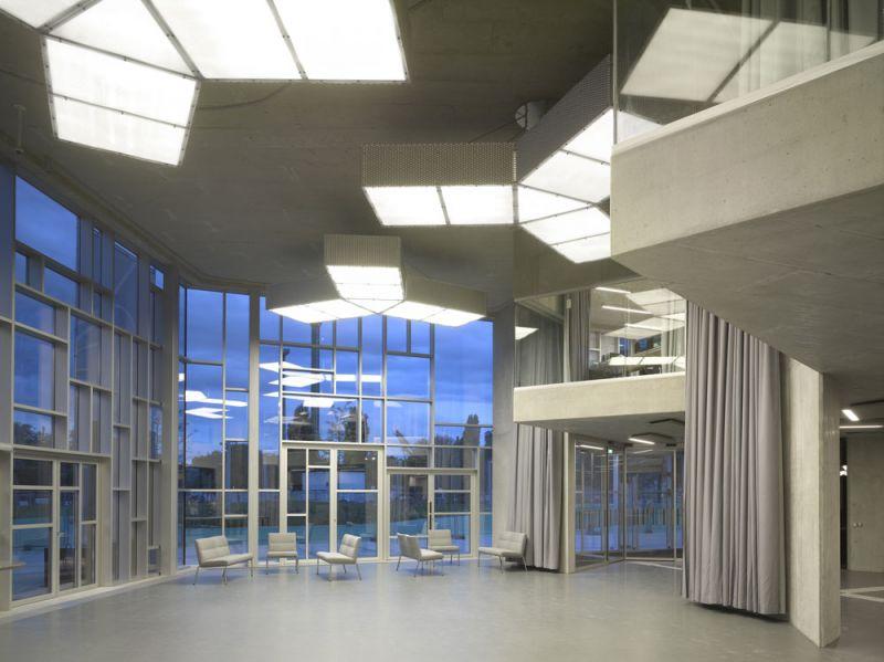 arquitectura universidad de ejecutivos de economia en viena foto interior acceso