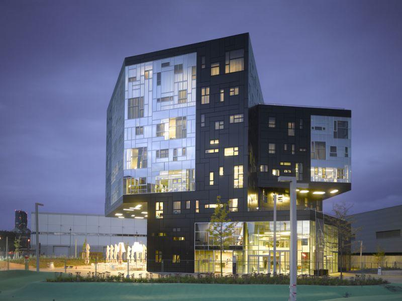 arquitectura universidad de ejecutivos de economia en viena foto exterior alzado