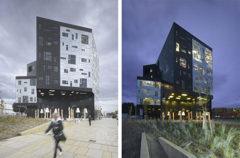 arquitectura universidad de ejecutivos de economia en viena foto exterior detalles