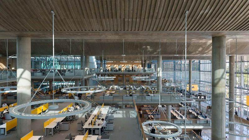arquitectura espacios interiores interconectados  jefatura porteña