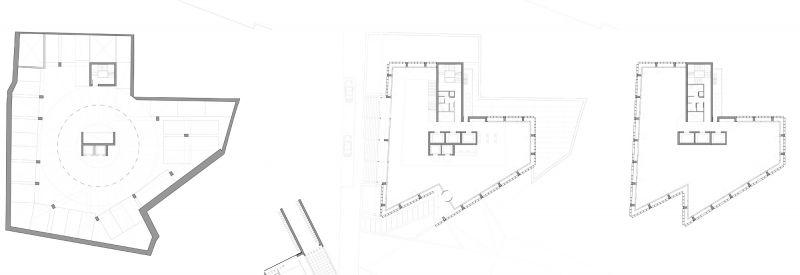 arquitectura carlos ferrater oab torre hipodromo plantas planos