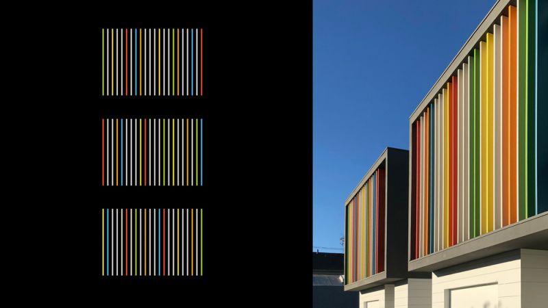 Oak_Park_detalle fachada y composición  Fachada Sur