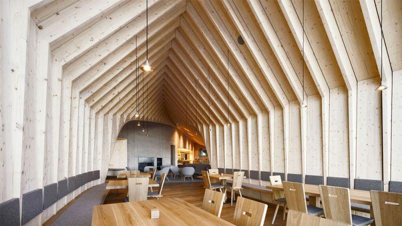 Imagen de los portales que forman la estructura de madera