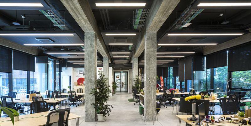 Imagen del interior del open space del proyecto de Carlo Ratti Associati
