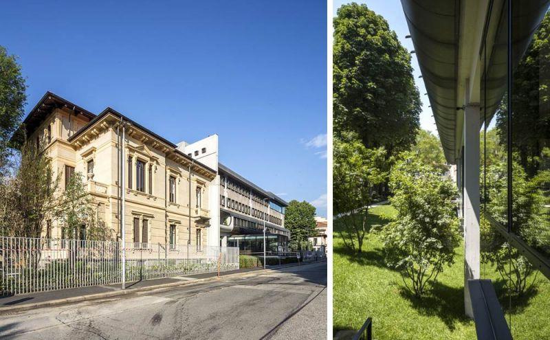 Imagen exterior del conjunto de la Fondazione Agnelli
