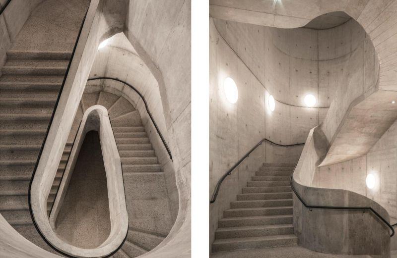 Imágenes de la escalera del edificio