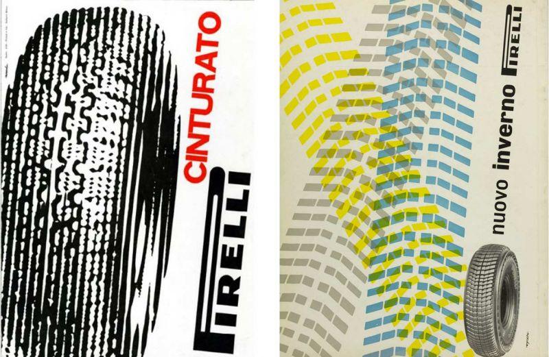 Imágenes publicitarias Pirelli realizadas por el diseñador holandés Noorda durante los años 50
