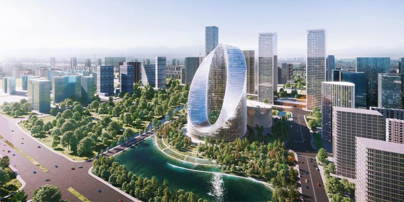 Arquitectura y Empresa, BIG, China, OPPO, sede, edificio de oficinas, rascacielos, Hangzhou, Infinity Loop, I+D, torre de oficinas, empresa de telefonía