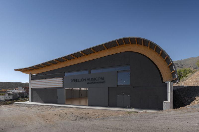 arquitectura pabellon municipal san lorenzo makin molowny portela fotografia exterior acceso