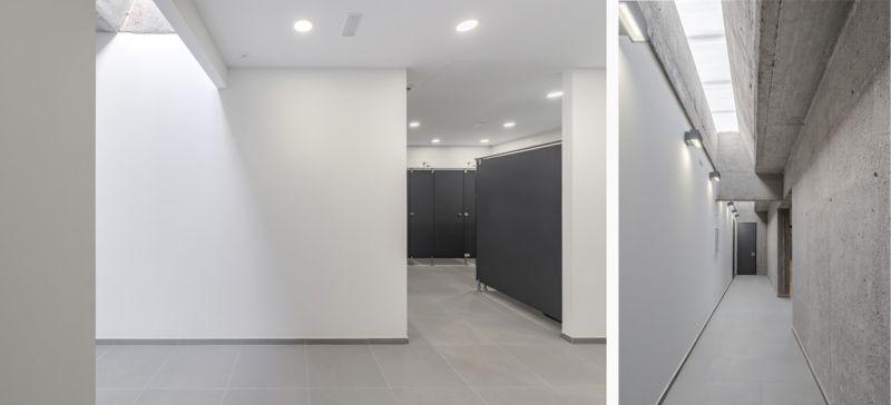 arquitectura pabellon municipal san lorenzo makin molowny portela fotografia interior vestuarios
