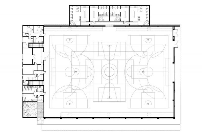 arquitectura pabellon municipal san lorenzo makin molowny portela planta