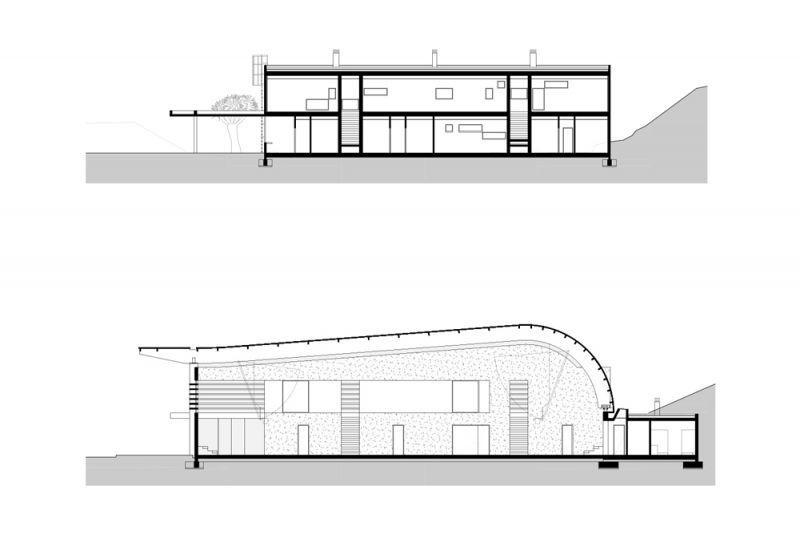 arquitectura pabellon municipal san lorenzo makin molowny portela secciones