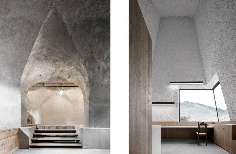 Vistas interiores del proyecto histórico versus contemporaneo