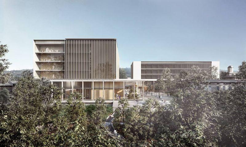 arquitectura pinearq hospital rumania vista exterior