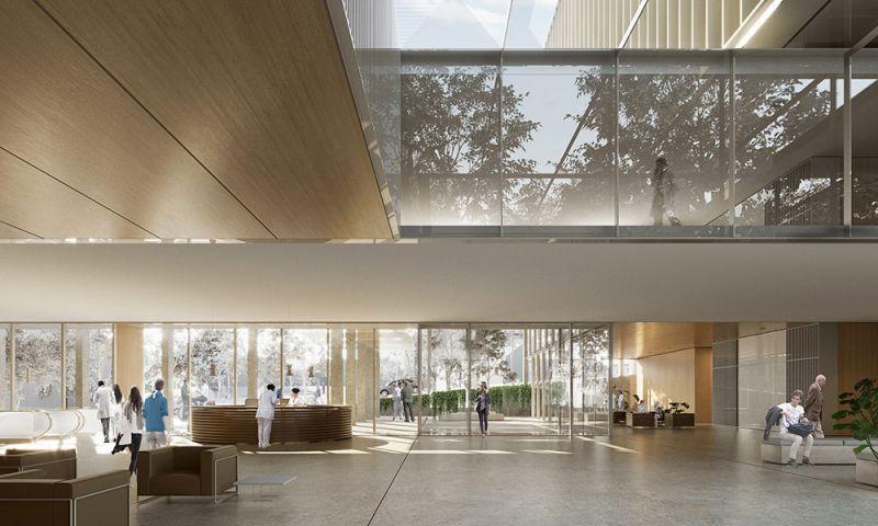 arquitectura pinearq hospital rumania vista interior