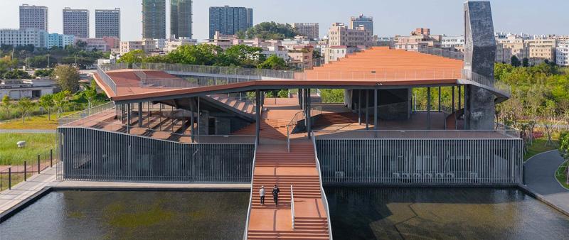 Arquitectura y Empresa, estación de purificación de agua de Nanbu, Pingshan Terrace, NODE Achitecture & Urbanism, China, Yanzihu, cubierta, espacio público, Chao Zhang, Yongyu Chen