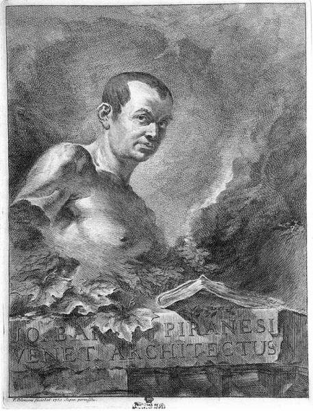 Felice Polanzani: Retrato de Piranesi (1750)