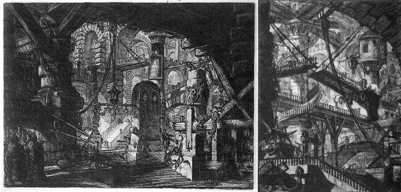 Piranesi: Cárcel XVI y VII (1761)