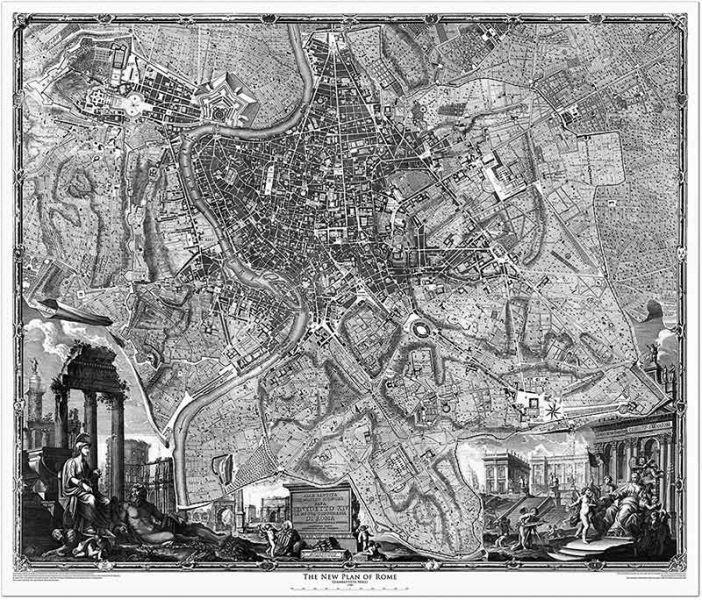 G. Nolli: Nuova pianta di Roma (1748)