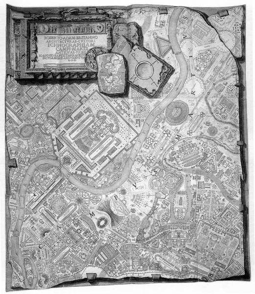 Piranesi: Planta de los Campos de Marte de la antigua urbe (1762)