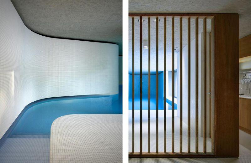 Vistas del interior del pabellón de la piscina