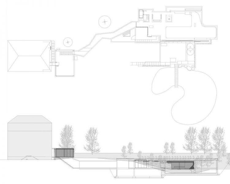 Planta y sección longitudinal del proyecto
